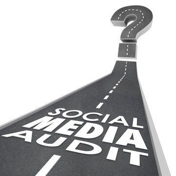 Social Media Audit Words Road Monitor Measure Campaign Effective