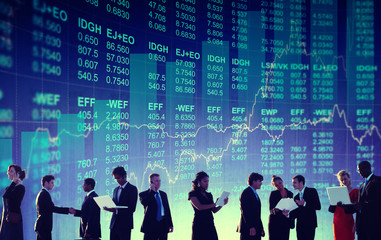 Business People Global Stock Market Financial Concept