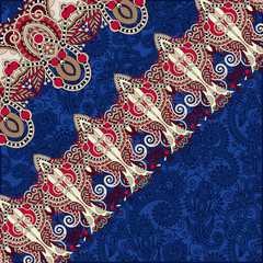 ornamental background with flower ribbon, stripe pattern, greeti