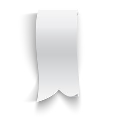 Realistic detailed curved paper banner
