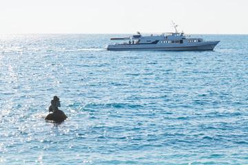Black sea near Mishor resort area in Crimea