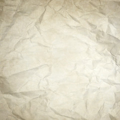 old white wrinkled paper texture or background