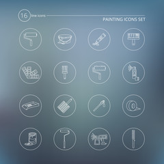 Painting icons outline