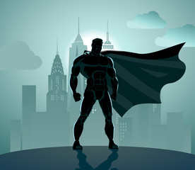 Superhero in City
