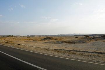 road in desert landscape