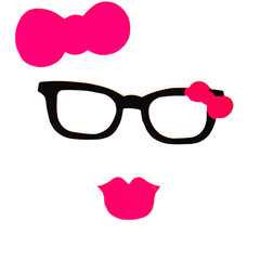 Party set - Glasses, hats, lips, mustaches, masks - for design,