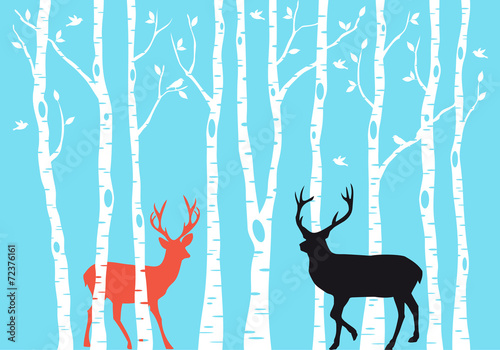 Reindeer Christmas card, vector