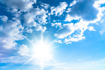 Shining Sunlight Cloudy Outdoor