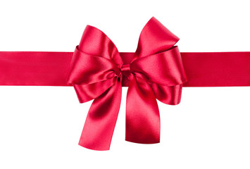 red bow photo made from silk