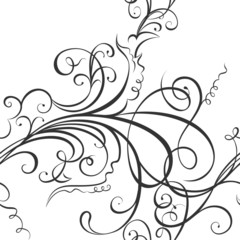 Swirling floral ornament