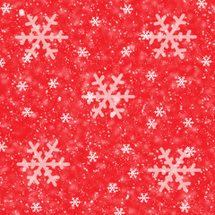 Snowflakes on Red Background-Illustration