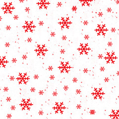 Red Snow on White Background