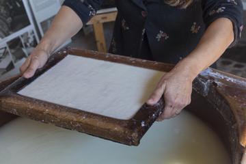 Handmade cotton paper