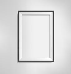 Black simple modern blank frame on grayscale background