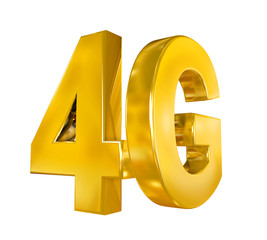 4G Icon Isolated