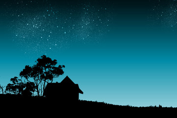 Türaufkleber Nacht Night time