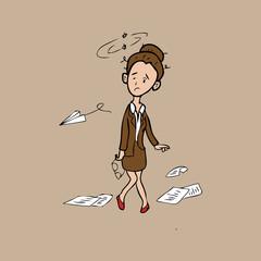 Businesswoman confuse