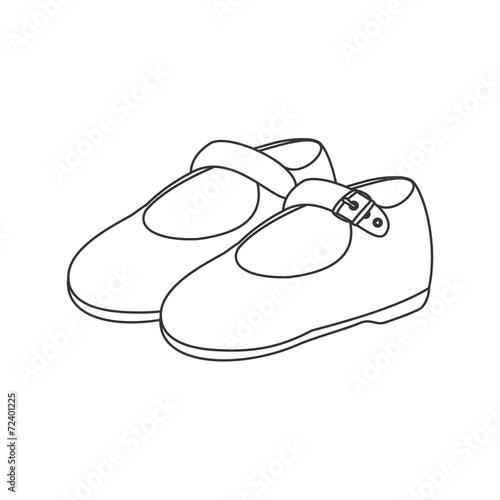 Zapatos para colorear sin fondo\