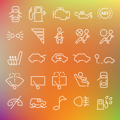 Vector clean icons set