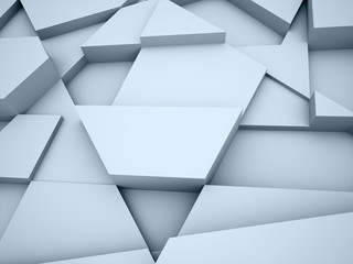 Blue triangle abstract background concept