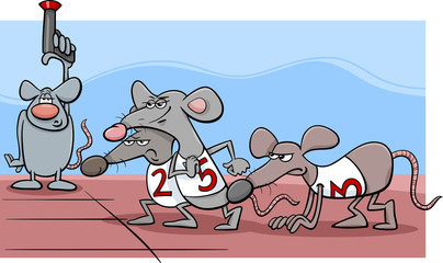 rat race cartoon illustration