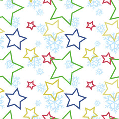 Seamless winter pattern vector illustration