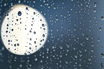 texture rain drops on the window