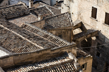 tiled roofs of a southern italian village
