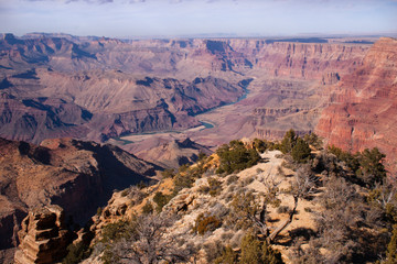 View to Colorado River, Grand Canyon, Arizona, USA