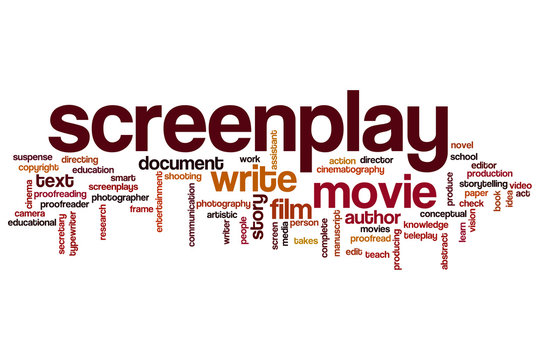 Screenplay word cloud