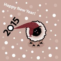 New year 2015. Year of sheep.