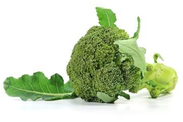 Broccoli isoliert auf weißem Hintergrund