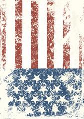 Grunge American flag background. Vector illustration, EPS 10