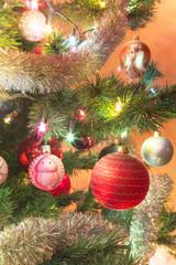 Colorful glass balls on Christmas Tree