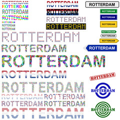 Rotterdam text design set
