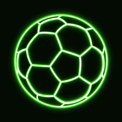 glowing soccer football ball