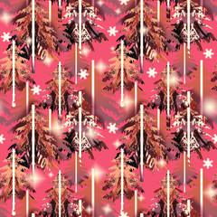 Winter seamless pattern