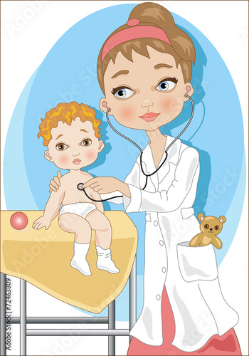 quotthe pediatricianla pediatraquot stock image and royalty