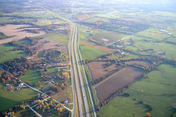 Aerial View of Highway 70 in Missouri