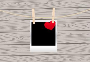 Photos on the clothespin