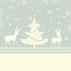 Greeting Christmas card and place for text