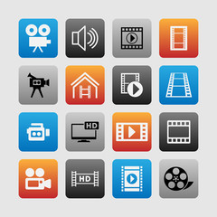 Video icons
