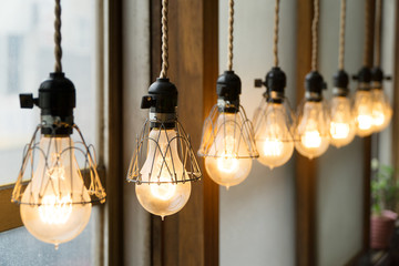 Cafe design light bulbs