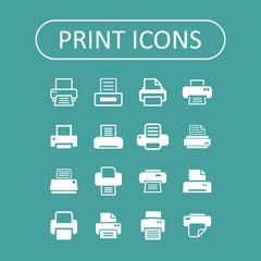 Print icons