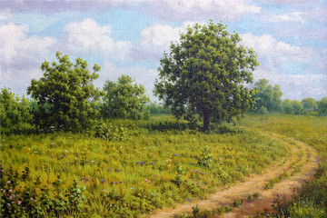Rural road landscape