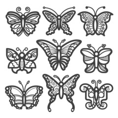 Butterfly Icon Black