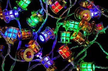 LED Christmas lantern lights © Arena Photo UK