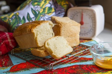 Home-made white bread