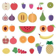 Fruit icons set 1