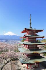 新倉山浅間公園から富士山